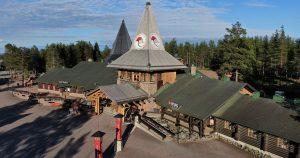 Santa Claus Office in summer in Santa Claus Village in Rovaniemi, Finland