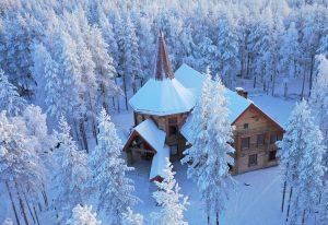 House of Mrs Santa in Santa Claus Village in Rovaniemi, Lapland