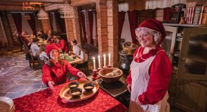 Dinner in the house of Mrs Santa Claus in Santa Claus Village in Rovaniemi