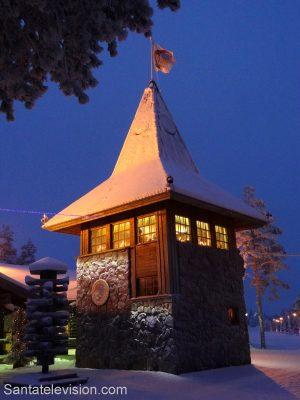 Tower of Santa Claus Main Post Office in Santa Claus Village in Rovaniemi, Lapland