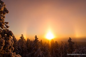 Halo in Lapland in Finland