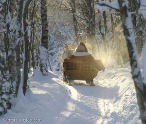 Rentierschlittenfahrt des Weihnachtsmannes in Lappland Rovaniemi