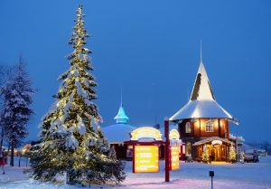 Christmas House in Santa Claus Village in Rovaniemi