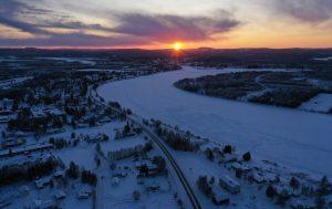Sunset in Pello, Lapland