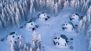 Glass Resort in Santa Claus Village in Rovaniemi, Finland