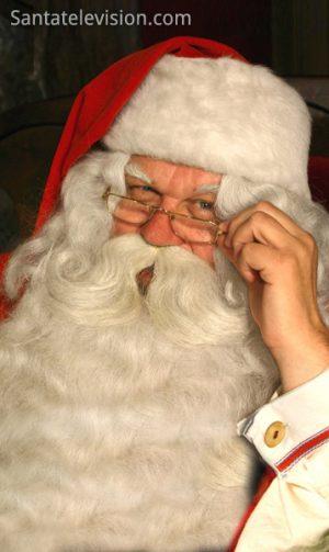 Joulupukin lähikuva