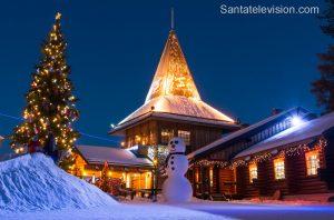Le Bureau du Père Noël au cercle arctique à Rovaniemi en Laponie