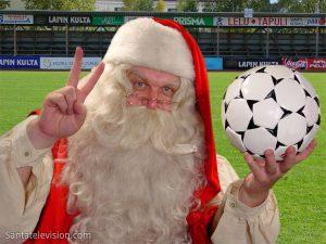 Le Père Noël aime le football
