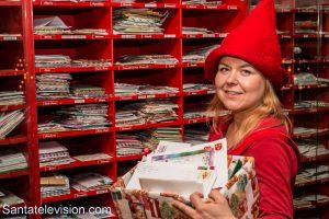 Letters arrive in Santa Claus Main Post Office in Rovaniemi