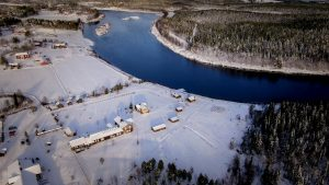 Elves Village in Levi, Lapland by air