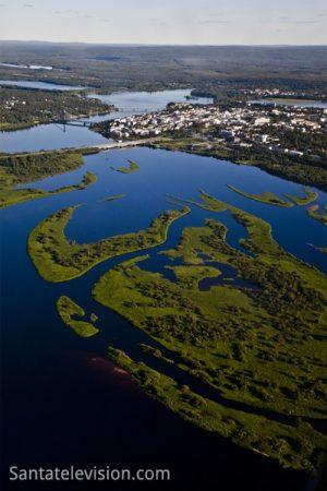 Rovaniemi by air during summertime