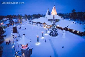 Santa Claus Village, home of Father Chrsitmas and the arctic circle line in Rovaniemi, Finland