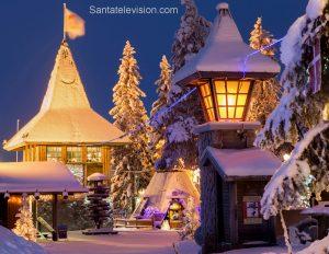 Linea del circolo polare artico e ufficio postale principale di Babbo Natale a Rovaniemi, Lapponia