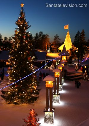 La ligne du Cercle Polaire au Village du Père Noël à Rovaniemi en Laponie