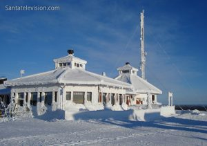 Restaurant Kaunispään huippu au sommet de Saariselkä en Laponie, Finlande