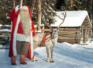 El reno favorito de Papá Noel en Laponia, Finlandia