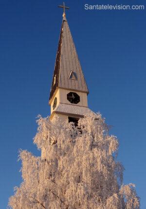 L'église de Rovaniemi en Laponie finlandaise en novembre