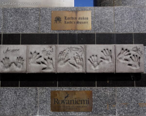 Lordi Square à Rovaniemi en Laponie en Finlande