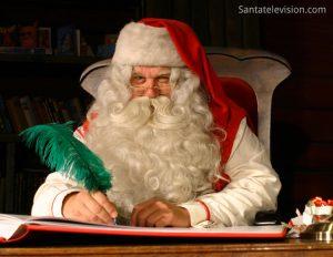 Der Weihnachtsmann in seinem Haus in Lappland, Finnland